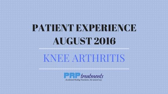 Patient Experience - Knee Arthritis - August 2016 (2)