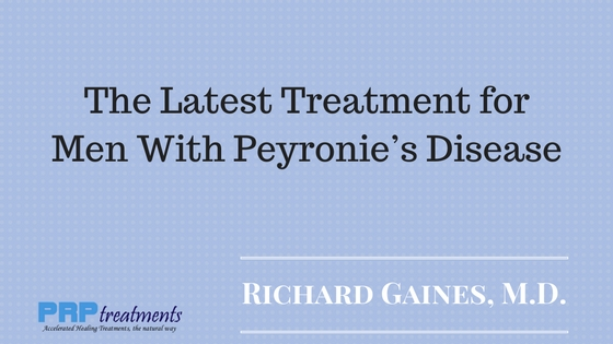 The Latest Treatment for Men With Peyronie's Disease